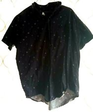 PlayStation Black Button Down Men's Shirt Size 2XL Short Sleeved Collared Cotton