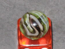 OPALESCENT MULTI COLOR TRANSPARENT SWIRL GLASS MARBLE MARBLES