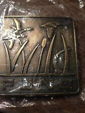 Vintage FUND Belt Buckle with Flying Geese New