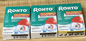 Rohto Cool Max Maximum Dual Action Relief Eye Drops Lot Of 3  Exp: 11/21-10/21