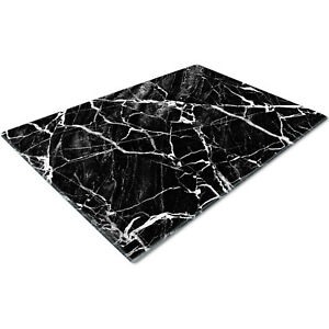 Glass Chopping Cutting Board Work Top Saver Large Marble Effect Black White