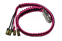 """biker whip motorcycle get back 36/"""" silver dice 9mm paracord Purple and Black"""