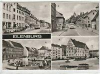 Ansichtskarte Eilenburg - Leipziger Straße/Bergstraße/Markt/Rathaus am Markt s/w