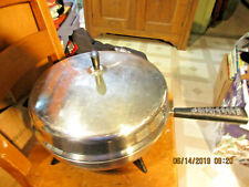 "Farberware Stainless Steel Dome Lid Electric Fry Pan-12"" Circular W/Cord-Immersi"