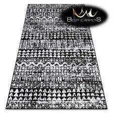 ORIGINAL Designer Rug 'RETRO' CHEAP Vintage carpets HE187 Patterns black cream