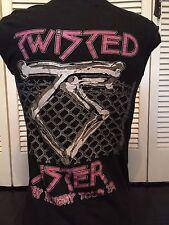 Vintage Twisted Sister 84 Tour Shirt Sz M/L Heavy Metal Rock Glam Dee Snider 666