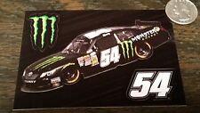 Genuine MONSTER ENERGY NASCAR #54 KYLE BUSH 3pc Sticker Sheet Car Window Decals
