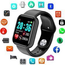 Smart Watch Y68 Waterproof Heart Rate Tracker Wristband for IOS Android BLACK