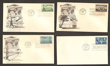 4x 1947 COMMEMORATIVE ENVELOPES FIRST DAY ISSUE TRANSPACIFIC /ATALNTIC AIR MAIL