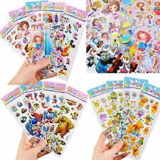10 Sheets 3D Cartoon Kids Bubble Stickers Classic Toys Decal School Reward Gift