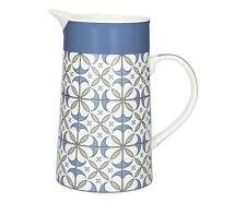 Caraffa Brocca Maioliche Blu in Porcellana