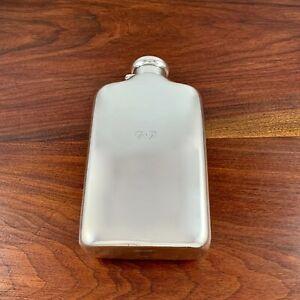 HUGE TIFFANY MAKERS 8 GILL STERLING SILVER FLASK SCREW CAP LID GB MONOGRAM