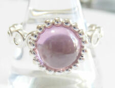 Size 8.0 by Nygaard Pink Stackable Sterling.Silverr Ring