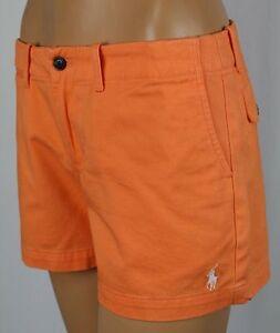 Ralph Lauren Sport Orange Shorts White Pony POLO Logo NWT