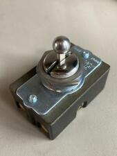 Vintage A Hamph 3 Position Ball Head Bat Toggle Switch 34hp 5a 250v 10a 120v