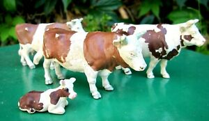 Britains Herald 4 Ayrshire Cattle - Bull, 2 Cows and Calf