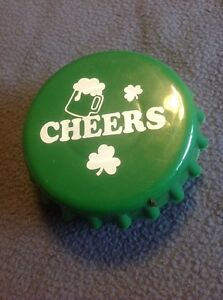 """Cheers Bottle Cap Plastic Cup Vintage Very Cool 3"""" Drinkable Cup Man Cave"""