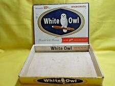 Cigar Box Vintage Rare White Owl Invincible Advertising Cigar Box Empty