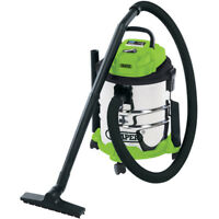 DRAPER 20L 1250W WET AND DRY VACUUM CLEANER HOOVER STAINLESS STEEL TANK 35569