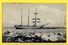 cpa Ecrite en 1914 CETTE SÈTE (Hérault) VOILIER ITALIEN barca a vela italiana