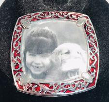 "Liz Claiborne ""Picture This"" Compact Mirror Silver Tone Travel Size"