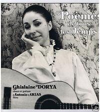 LP GHISLAINE DORYA POEMES DE TOUS LES TEMPS GARCIA LORCA LOPE DE VEGA HERNANDEZ