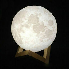 LED Night Light Lamp 3D Lunar Moon 15cm / 6in USB Multi-color Touch Control