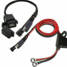 Motorcycle 12V SAE to USB Port Phone GPS Charger Cable Adapter Plug Inline Fuse