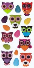 3D Epoxy Gel Stickers Cute Owls for Scrapbooking sticker Album school
