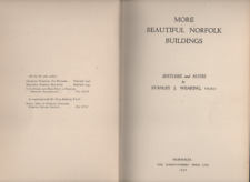 STANLEY J WEARING MORE BEAUTIFUL NORFOLK BUILDINGS FIRST EDITION HARDBACK 1947