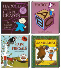 Harold and the Purple Crayon,Harold's ABC,Caps for Sale,Jamberry (bb) 4 Pack NEW