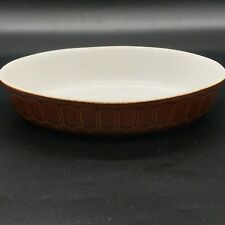VINTAGE FARM HOUSE CASSEROLE PIE DISH COOKING SERVING OVAL POTTERY