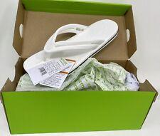 Women's Crocs Crocband Flip Flop Toe Post Sandals size 9 White 206100 NEW IN BOX
