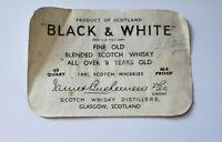 Scotch Whisky Black & White Buchanan's Choice Old Scotch Whiskey Bottle Label