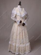 Victorian Edwardian Ivory Vintage Wedding Dress Bridal Gown Theater Wear 392 M