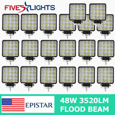 20X 48W LED Work Light Flood Cube Boat Tractor Truck Offroad SUV UTE Vehicle 4WD