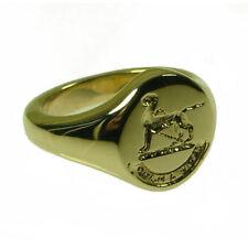 Anillos de joyería de metales preciosos sin piedras sello de oro amarillo