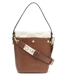 Calvin Klein Amber Bucket Bag, Walnut/Gold 148.00
