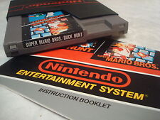 Super Mario Bros. / Duck Hunt -- NES Nintendo Game + INSTRUCTIONS MANUAL BOOKLET