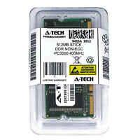 512MB STICK SODIMM DDR NON-ECC PC3200 400MHz 400 MHz DDR-1 DDR 1 512M Ram Memory