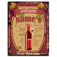 PP4222 NAME'S Wine Tasting CUSTOMIZE Sign Wine Bar Decor Gift Ideas