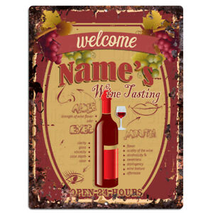 PP4222 NAME'S Wine Tasting CUSTOMIZE Sign Wine Bar Decor Gift Ideas