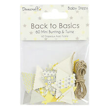 Baby Steps Mini Bunting & Twine Dovecraft Basics 60 Pack Scrapbooking Card Craft