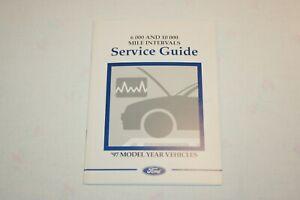 FORD SERVICE BOOK LOG BLANK DETAILS 3x MAINTENANCE STAMPS PRINT 03/1997 R REG+