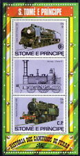 Sao Tome 1982 MNH SS, Train, Railways, Transport (T1)