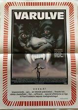 The Howling Dee Wallace Patrick Macnee 1981 Vtg Old Danish Movie Press Release