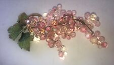 Vintage Pink Acrylic GRAPE CLUSTER - Very Pretty
