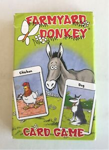 Bundle of 3 Kid's Card Games Farmyard Donkey Benny ABC Happy Families Complete