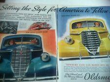 1938 Oldsmobile ORIGINAL 2 PAGE AD - Great Garage Decor