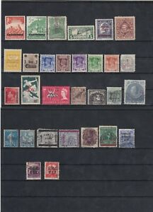 World Stamp Overprint Mix As Per Scan Mint Included (1 Scan)